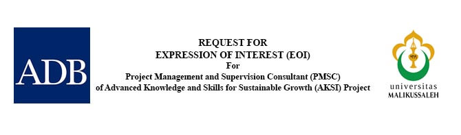 Request for Expression Of Interest (EOI) for Project Management And Supervision Consultant (PMSC) of Advance Knowledge And Skills For Suistanable Growt (AKSI) Project